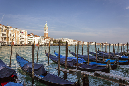 the campanile: sea view Piazza San Marco with Campanile and Doge Palace Stock Photo