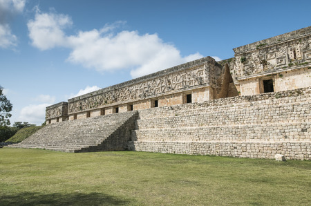 archeological site: Uxmal archeological site, mayan ruins in yucatan, mexico Editorial