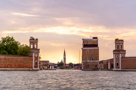 The beautiful city of Venice in Italy seen from the boat. Stock fotó