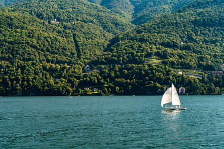 The beautiful como lake in italy seen from the boat Stock fotó