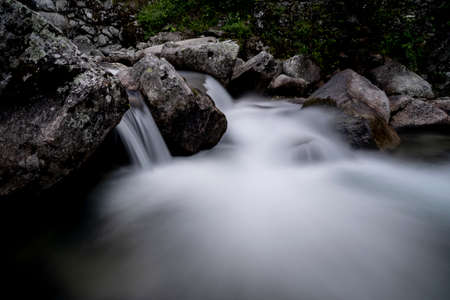Long exposure of a mountain's river in north Italy