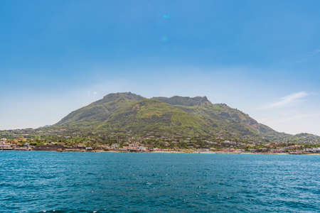 Ischia island in Italy, view from the sea