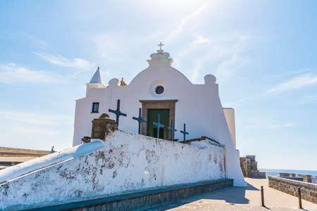 Chiesa del Soccorso, famous church in Ischia island in Italy Stock fotó