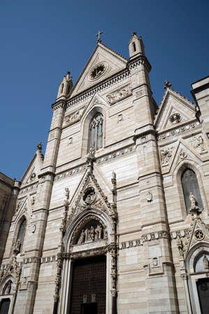 Duomo church Facade in Naples Italy Stock fotó