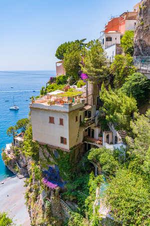 The wonderful village of Positano in the Amalfi Coast in Italy