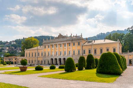 The beautiful architecture of Villa Olmo in Como Italy