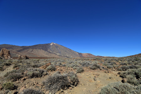 Mount Teide in Teide national park in Tenerife Imagens