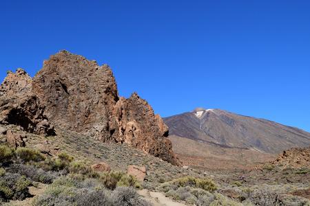 View of Mount Teide in Teide national park in Tenerife