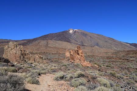 Mount Teide in Teide national park in Tenerife Imagens