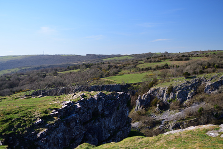 View of Cheddar gorge in Somerset