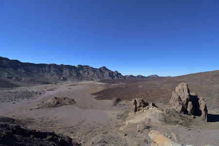 View of a valley in Teide national park in Tenerife