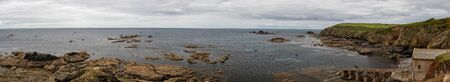Panoramic photo of the old lifeboat station at the Lizard in Cornwall 写真素材 - 128779516