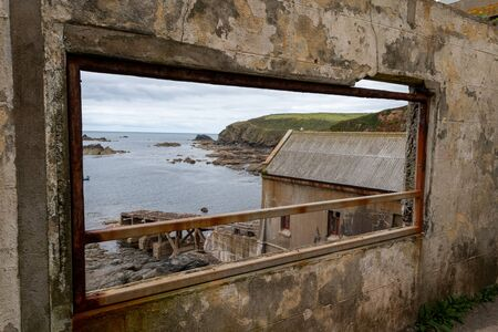 View of the old lifeboat station at the Lizard in Cornwall 版權商用圖片