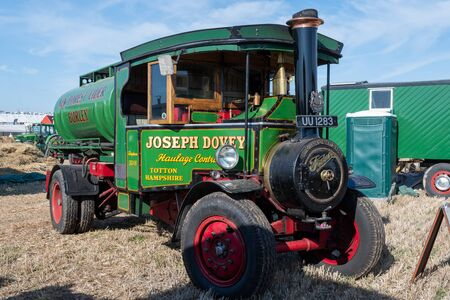Blandford Forum.Dorset.United Kingdom.August 24th 2019.A Foden vintage steam powered lorry is on display at The Great Dorset Steam Fair. 報道画像