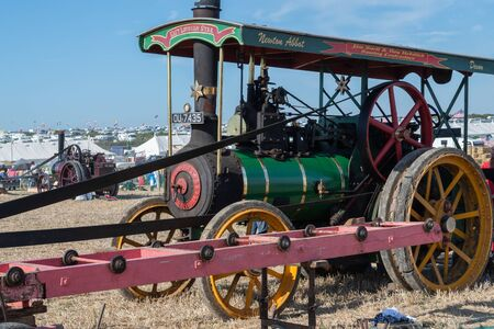 Blandford Forum.Dorset.United Kingdom.August 24th 2019.A restored vintage traction engine is on display at The Great Dorset Steam Fair. 報道画像