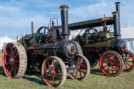 Blandford Forum.Dorset.United Kingdom.August 24th 2019.Restored vintage traction engines are on display at The Great Dorset Steam Fair.