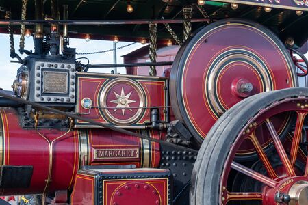 Blandford Forum.Dorset.United Kingdom.August 24th 2019.A Burrel traction engine is on display at The Great Dorset Steam Fair. 報道画像