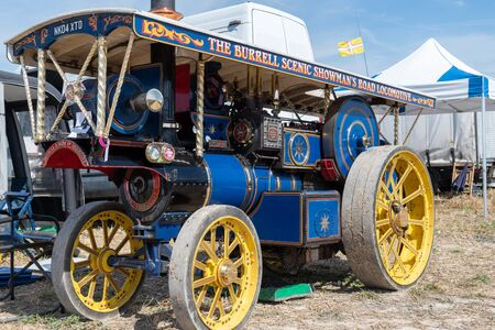 Blandford Forum.Dorset.United Kingdom.August 24th 2019.A Burrell traction engine is on display at The Great Dorset Steam Fair. 報道画像