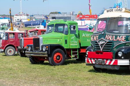 Blandford Forum.Dorset.United Kingdom.August 24th 2019.Vintage lorries are on display at the great Dorset steam fair