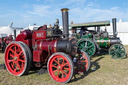 Blandford Forum.Dorset.United Kingdom.August 24th 2019.Restored traction engines are on display at The Great Dorset Steam Fair. 報道画像