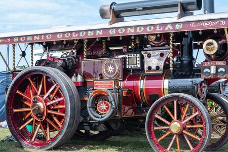 Blandford Forum.Dorset.United Kingdom.August 24th 2019.A restored Burrell traction engine is on display at The Great Dorset Steam Fair. 報道画像
