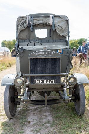 Blandford Forum.Dorset.United Kingdom.August 24th 2019.A Thornycroft truck used during the first world war is on display at The Great Dorset Steam Fair.