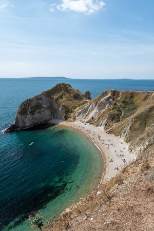 Man O War beach at Durdle Door in Dorset. 写真素材 - 131754668
