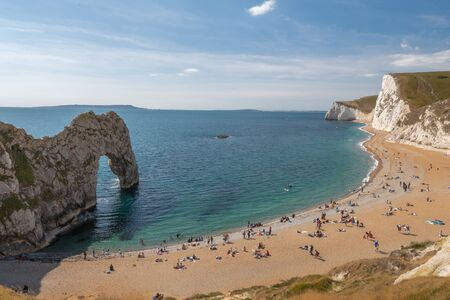 View of the arch at Durdle Door in Dorset.