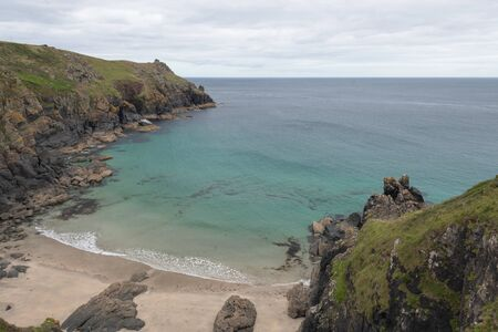 View of Housel cove at The Lizard in Cornwall
