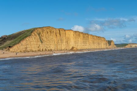 Landscape photo of the East Cliff at West Bay in Dorset.