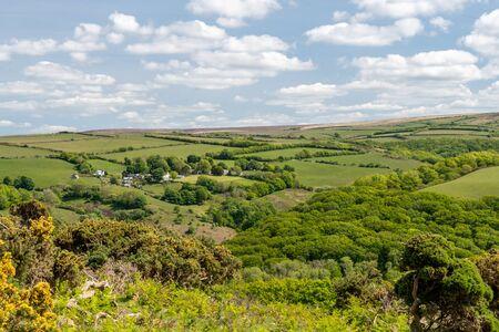 Landscape photo of The Doone Valley In Exmoor National Park 写真素材