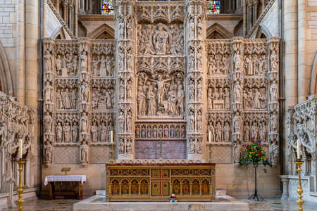 The altar inside Truro cathedral in Cornwall