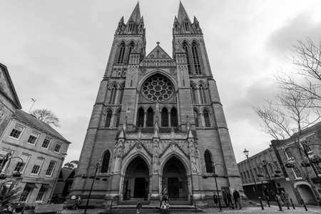 View of the front of Truro cathedral in Cornwall