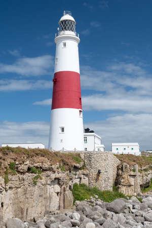 Landscape photo of Portland Bill lighthouse on the Jurassic coast in Dorset