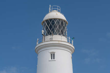 Close up of Portland Bill lighthouse in Dorset