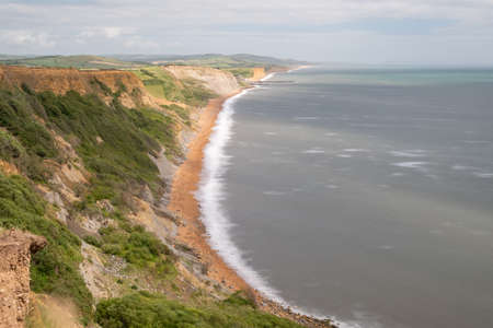 View of the Jurassic Coastline in Dorset Banque d'images