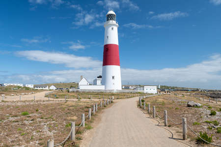 Landscape photo of Portland Bill lighthouse on the Jurassic coast in Dorset