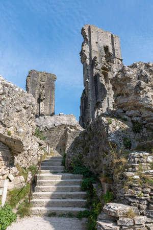 The ruins of Corfe castle in Dorset