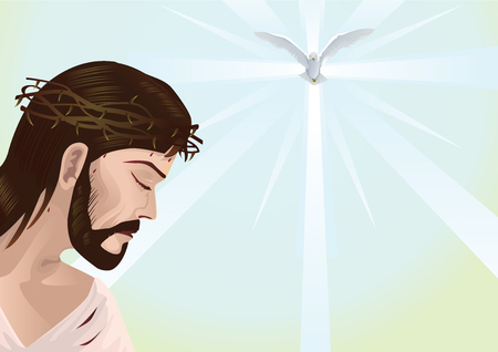 redemption: Jesus Christ with space for text