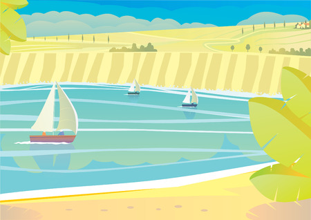 vibrant cottage: yacht on the sea