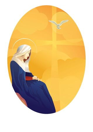 Mary against cross