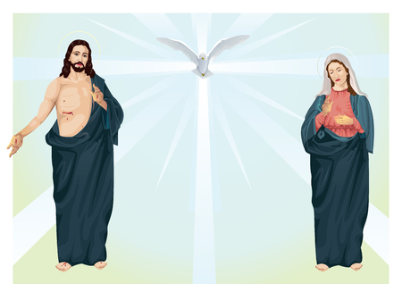 sacred heart: Jesus Christ and the Blessed Virgin Mary