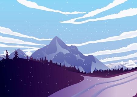 winter mountains Illustration