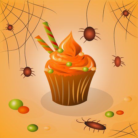 Chocolate Candy Cupcakes Cupcake on Halloween Candy