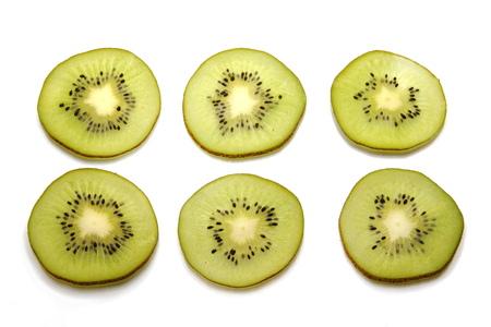 abstracto: rodajas de kiwi