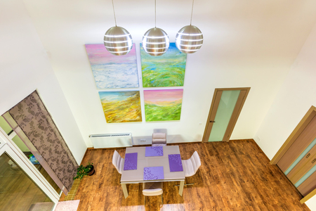 Casa Interior Contemporáneo Salón Fantástico. Comedor. Luminoso ...