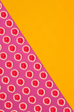 limon: Fruit citrus seamless pattern. Grapefruit tile texture.