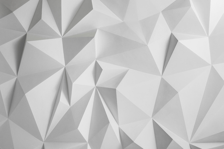 raytracing: Abstract background of polygons on white background.