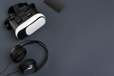 Virtual reality headset. Bovenaanzicht