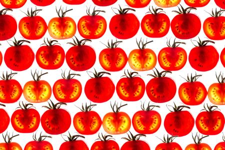 Tomato slice backlit